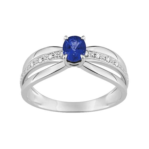 Bague fiancailles ceylan or et diamants de joaillerie Lucky One Bijoux