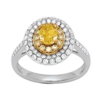 bague fiancailles golden eye diamant jaune