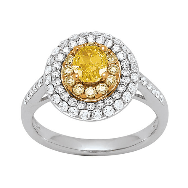 bague fiancailles golden eye diamant jaune