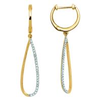 boucles d'oreilles asia or jaune et diamants