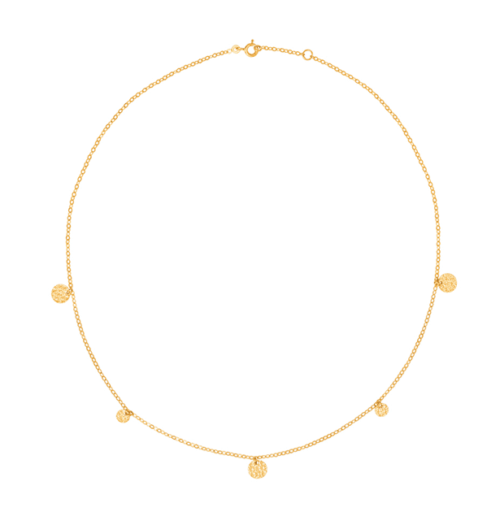 Collier Pampille or jaune