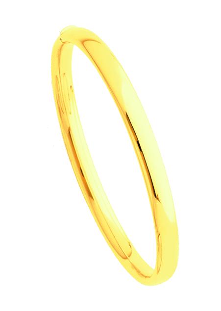 Bracelets Jonc or jaune 6mm