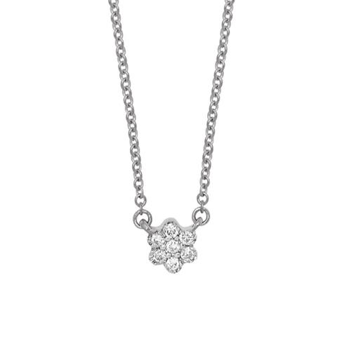 Collier Pear Or Blanc et diamants