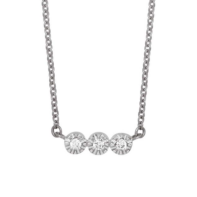 Collier Vidura Or blanc et diamants