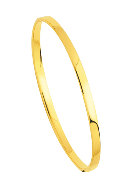 Bracelets Jonc Rectangle Or Jaune