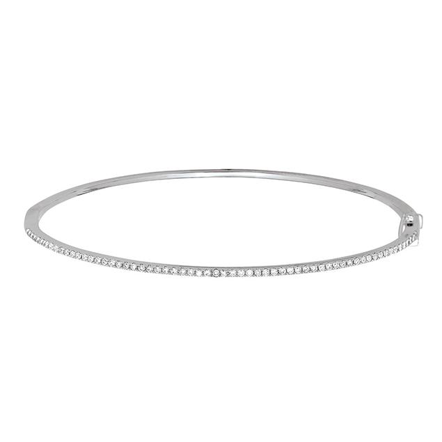 Bracelets Jonc Or Blanc Diamants