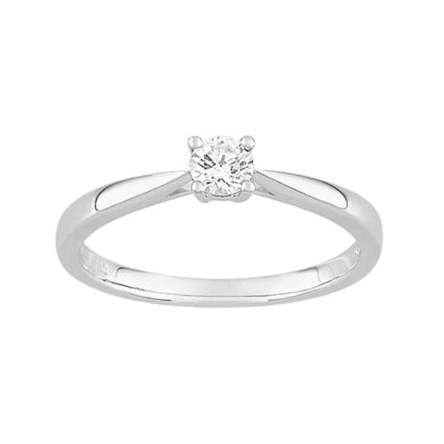 Bague de fiançailles Passion Solitaire diamant 4 griffes 0,20 carat