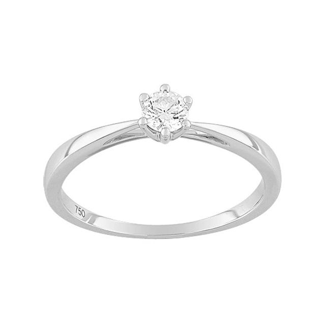 Bague de fiançailles Passion Solitaire diamant 6 griffes 0,20 carat