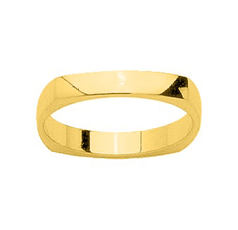 Alliance homme or jaune 18 carats carre