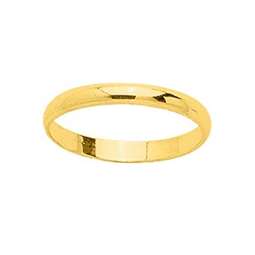 Alliance pour homme demi jonc en or 18 carats