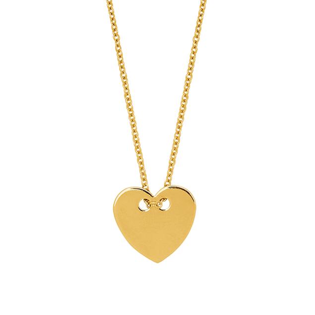 Colliers Coeur en or jaune 18 carats pour femme