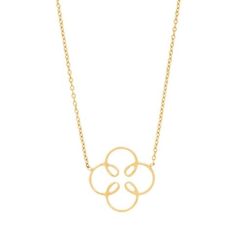 Colliers Lune en or jaune 18 carats pour femme
