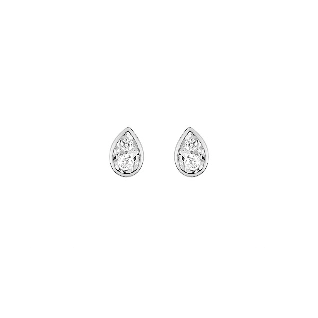 Joaillerie Boucles d'Oreilles Puces Clous Or Blanc Diamants