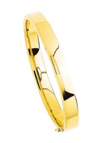 Bracelets Jonc Or Ouvrant Fil Rectangle 8mm