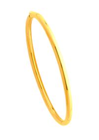 Bracelets Jonc Or Ouvrant Fil Rond 3mm