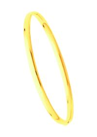 Bracelets Jonc Or Ouvrant Fil Ovale 4mm