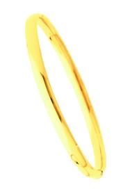 Bracelets Jonc Or Ouvrant Fil Ovale 5mm