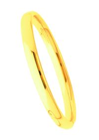 Bracelets Jonc Or Ouvrant Fil Ovale 7mm