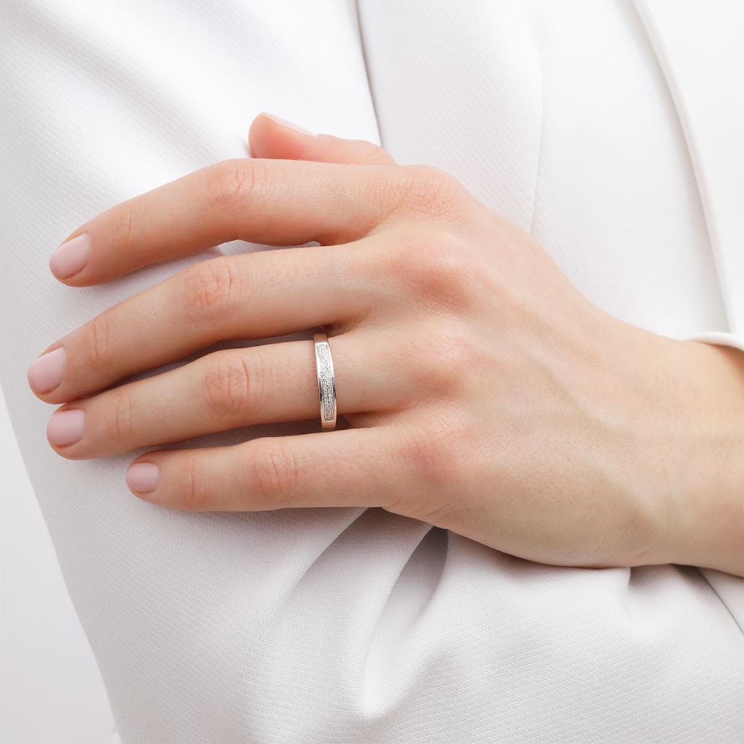 Alliance Or Blanc 750 Diamants