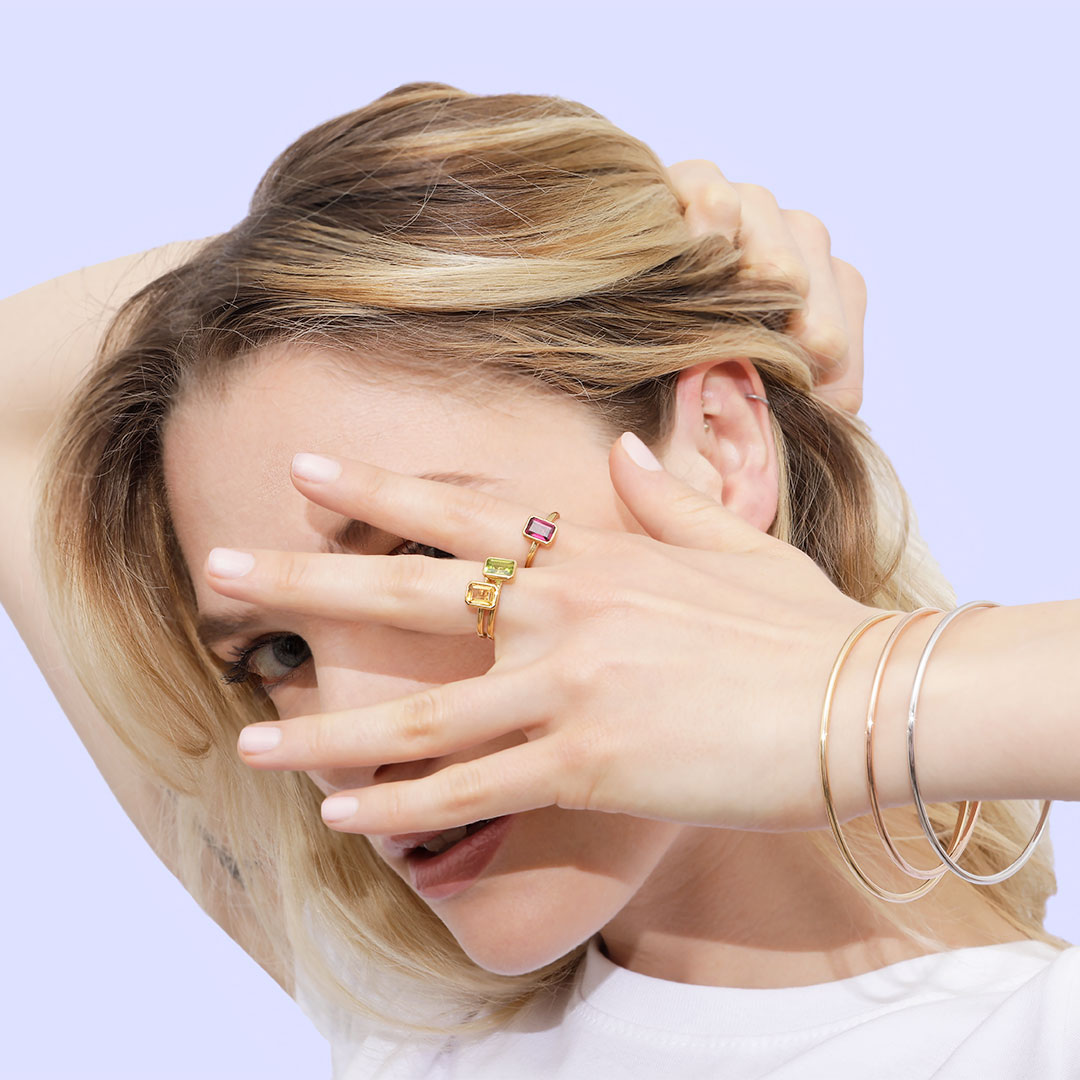 Bague Gossip et bracelet jonc or