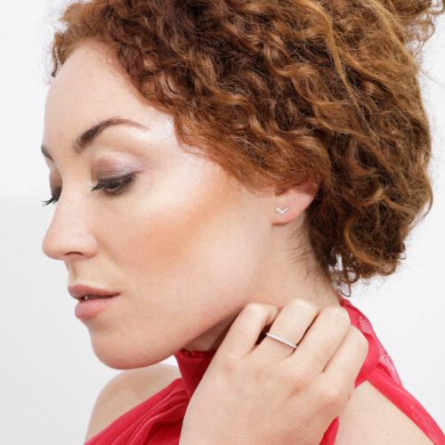 Boucles d'oreilles Victoria Or Blanc Diamant