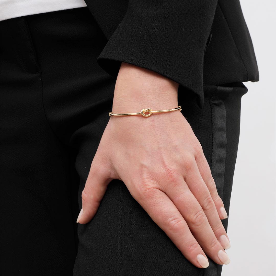 Bracelets Joncs Entrelace en or jaune