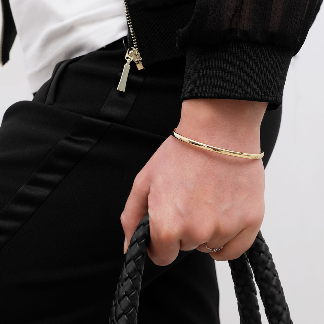 Bracelet Jonc Ovale Jaune