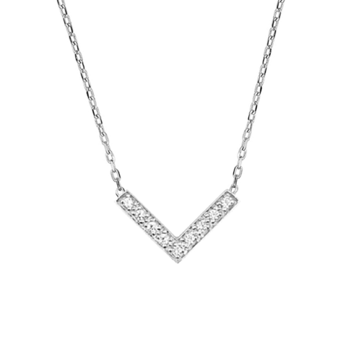 Collier Diamants En V