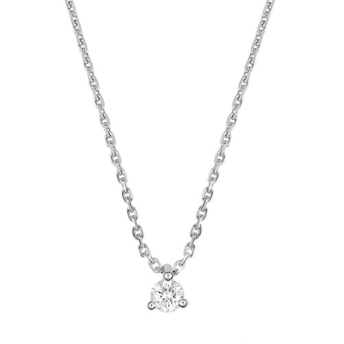 Collier Solitaire Diamant 0,10 carat