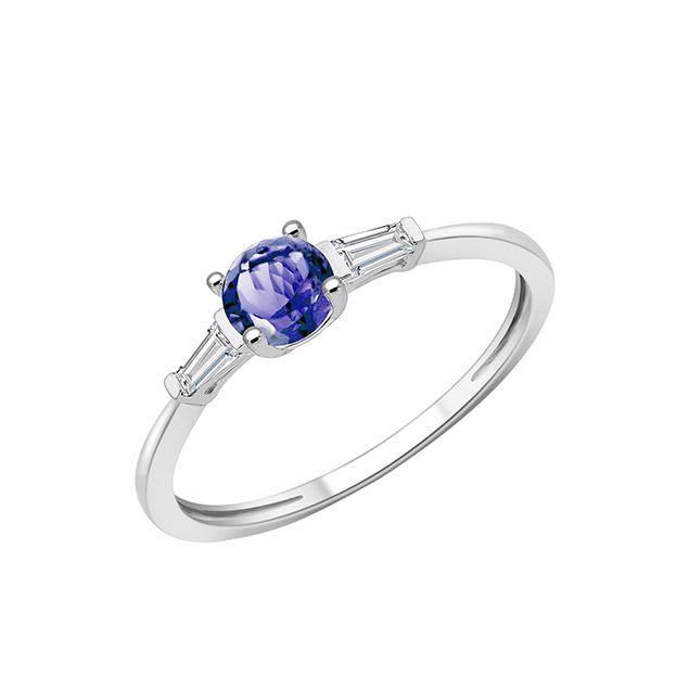 Bague pierres fines Or Blanc Tanzanite