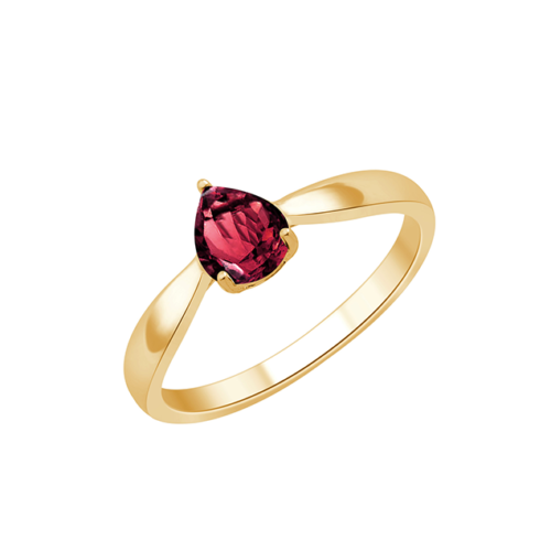 Bague Or Jaune Rhodolite Panama