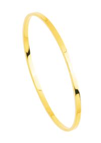 Bracelet Jonc Rectangle Or 18 Carats