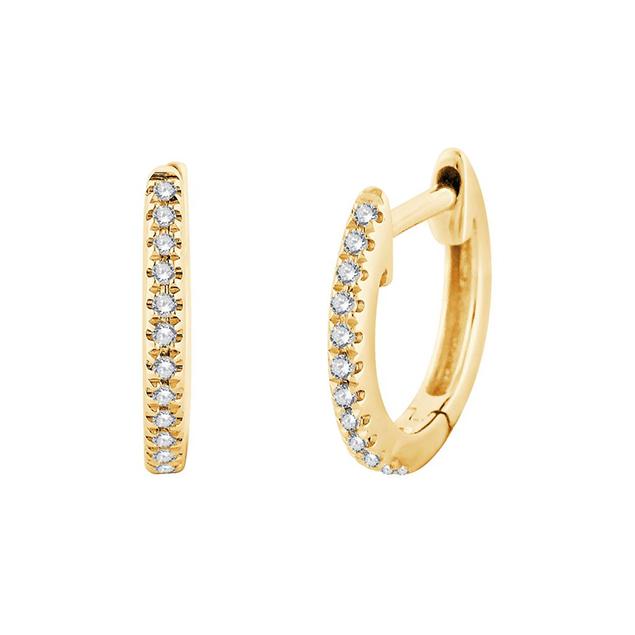 boucles d'oreilles creoles diamants Or Jaune