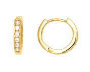 Creoles Or Jaune Diamants