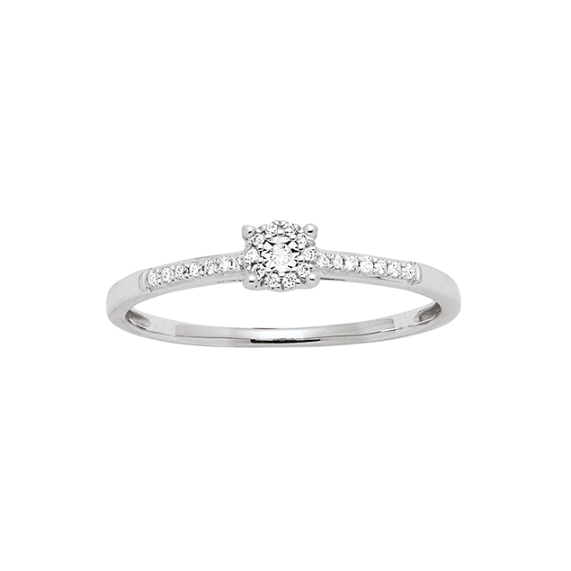 Ultra Solitaire fiançailles Diamant | Bague en Or Blanc 750 | Lucky One GY-36