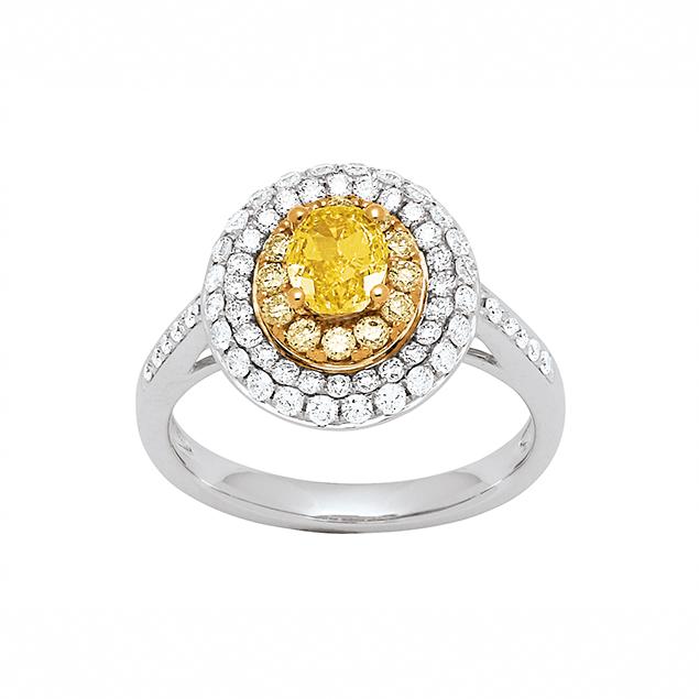 Bague de Fiancailles Diamant Jaune