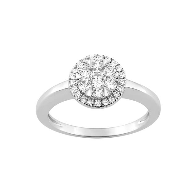 Bague de fiancailles Diamant Or Blanc