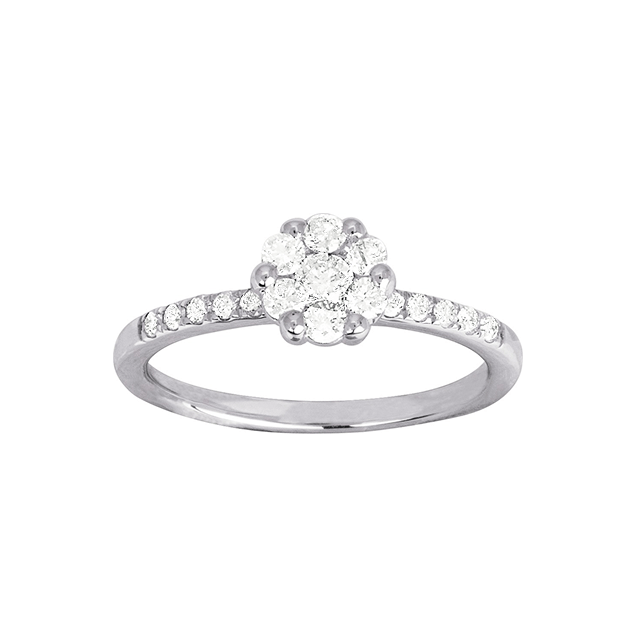 Bague de fiancailles Diamant Or Blanc