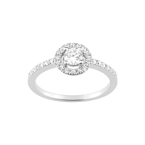 Bague Diamant Or Blanc