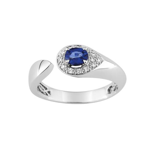 Bague Saphir Bleu de Ceylan