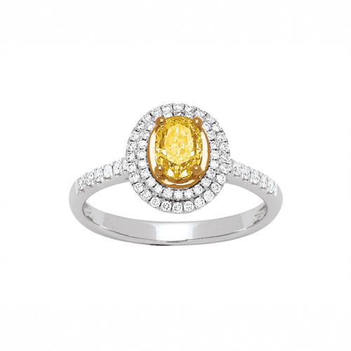Bague de Luxe Diamant Jaune