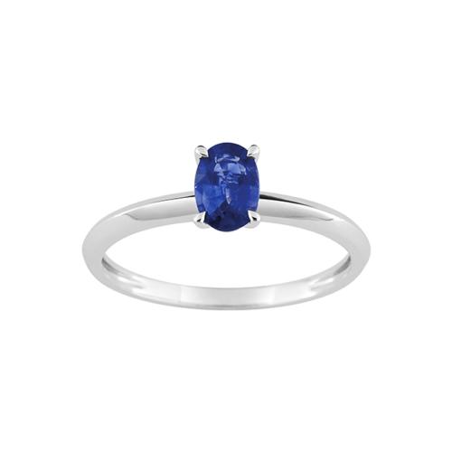Bague Saphir Bleu Or Blanc