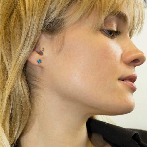 Pucdes d'oreilles Rondes Pierre Fine