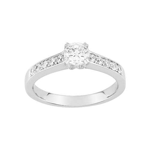 Bague de fiançailles Diamant Or Blanc