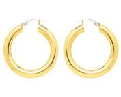Créoles or jaune 18 carats