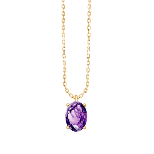 Joaillerie à Personnaliser Collier Or Amethyste