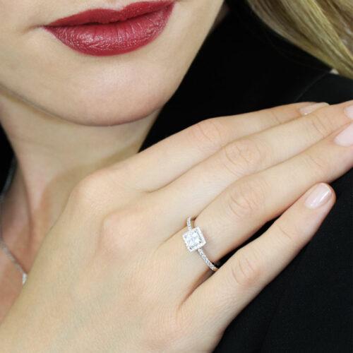 Bague de Fiancailles Diamant