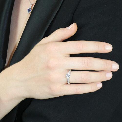 Bague de Fiancailles Diamant Solitaire