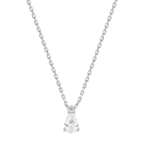 Collier Diamant Poire Or Blanc
