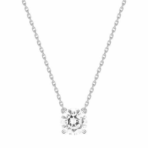 Collier Diamant Solitaire Or Blanc